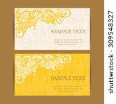 vintage invitation card. | Shutterstock .eps vector #309548327