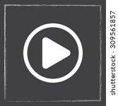 play button sign icon  vector... | Shutterstock .eps vector #309561857