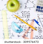 studying math back to school... | Shutterstock . vector #309576473
