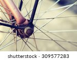 close up of bicycle wheels... | Shutterstock . vector #309577283