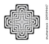 cruciform logo template in...   Shutterstock .eps vector #309599447