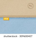 vector denim background... | Shutterstock .eps vector #309600407