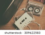 Retro Cassette Tape And Player...