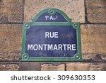 Paris  France   Rue Montmartre...