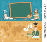 education back to school... | Shutterstock .eps vector #309641717