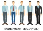 young businessmen in flat style....   Shutterstock .eps vector #309644987