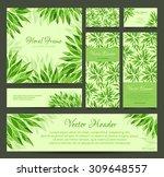 set of vector banners  business ... | Shutterstock .eps vector #309648557