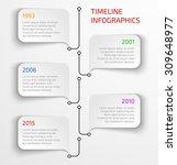 modern timeline infographic... | Shutterstock .eps vector #309648977