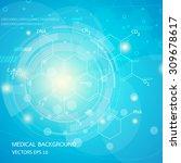 abstract graphics molecules... | Shutterstock .eps vector #309678617