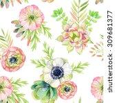 watercolor seamless pattern...   Shutterstock . vector #309681377