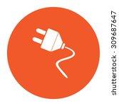 electrical plug. flat white...