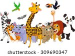 cartoon wild animals | Shutterstock .eps vector #309690347