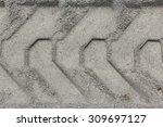 bulldozer tracks in the dirt | Shutterstock . vector #309697127
