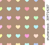 cute pastel rainbow or colorful ... | Shutterstock .eps vector #309714287