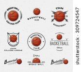 basketball badges logos and... | Shutterstock .eps vector #309724547