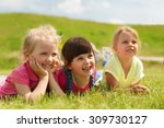 summer  childhood  leisure and... | Shutterstock . vector #309730127