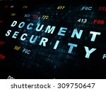 safety concept  document...   Shutterstock . vector #309750647