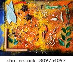 exotically spice mix   spice ... | Shutterstock . vector #309754097