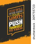 you will never know your limits ... | Shutterstock .eps vector #309755723
