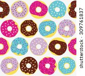 cute multicolored pattern with...   Shutterstock .eps vector #309761837