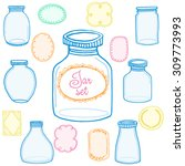 glass jar background  | Shutterstock .eps vector #309773993