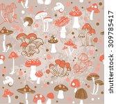 vector seamless pattern of... | Shutterstock .eps vector #309785417