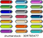 colorful hi tech buttons vector ... | Shutterstock .eps vector #309785477