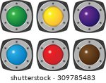 colorful hi tech buttons vector ... | Shutterstock .eps vector #309785483