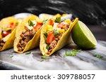 mexican food   delicious tacos... | Shutterstock . vector #309788057