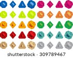 colorful gems vector pack