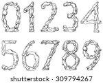 vector digits of water  ... | Shutterstock .eps vector #309794267
