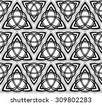 black and white celtic triskels ... | Shutterstock .eps vector #309802283