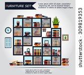 illustration of office... | Shutterstock .eps vector #309819353
