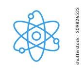 atom icon  modern minimal flat... | Shutterstock .eps vector #309826523