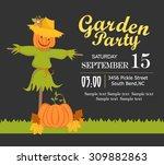 garden party | Shutterstock .eps vector #309882863