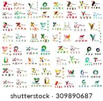 mega set of geometric company... | Shutterstock .eps vector #309890687
