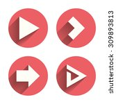 arrow icons. next navigation... | Shutterstock .eps vector #309893813