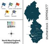 vector map of north west... | Shutterstock .eps vector #309906377