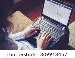 malaga  spain   april 26  2015  ... | Shutterstock . vector #309913457