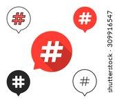 set of speech bubbles with... | Shutterstock .eps vector #309916547