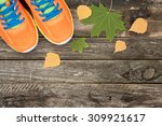 Sport Shoes And Autumn Leaves...