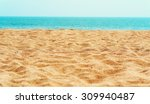 beautiful sand beach | Shutterstock . vector #309940487