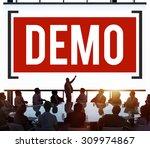 demo preview trailer trial... | Shutterstock . vector #309974867