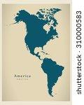 modern map   america complete... | Shutterstock .eps vector #310000583
