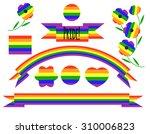 gay pride design elements set ... | Shutterstock .eps vector #310006823
