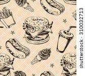 seamless decorative pattern... | Shutterstock .eps vector #310032713