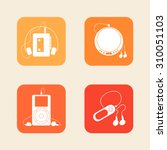 icons of portable players ...   Shutterstock .eps vector #310051103