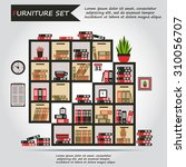 illustration of office... | Shutterstock .eps vector #310056707
