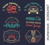 garage logos set. car repair... | Shutterstock .eps vector #310062467