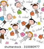 background cheerful children | Shutterstock .eps vector #310080977